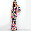Image of Ruffled Floral Maxi Dress