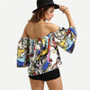 Image of Off the Shoulder Graffiti Top