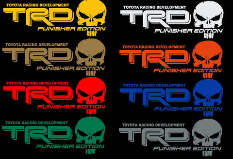 Truck Car Decal - TRD Punisher Edition - Vinyl decal Outdoor vinyl