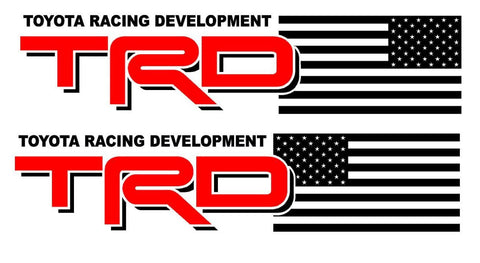 TRD USA Mirror Flag 2 COLOR - Vinyl decal Outdoor vinyl
