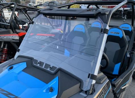Vented Full Polycarbonate Windshield with Quick Straps for 2019 RZR 1000, Turbo (upgrade options)
