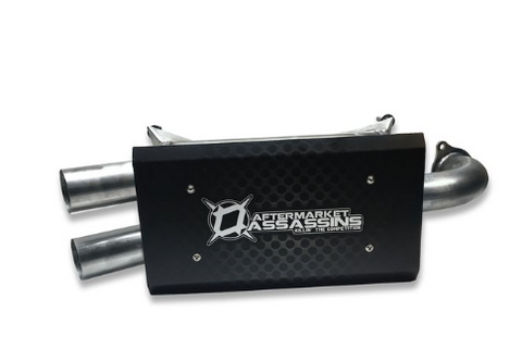 AA Stainless Slip-On Exhaust for 2016-18 RZR XP Turbo