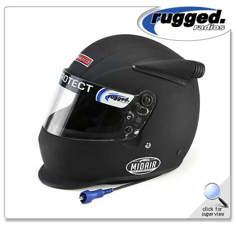 Pyrotect Midair Helmet - Flat Black Rugged Radio