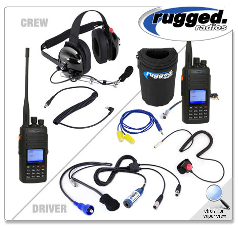 Offroad Short Course System with Waterproof RH5X-V2 Dual Band Radios Rugged Radio