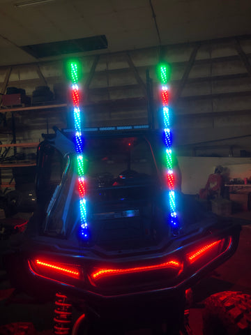 3ft Bluetooth Chasing Whip Lights