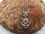 Anchor Pick A Pearl Cage 925 Sterling Silver Necklace Boat Ship Anchor Beach Ocean Charm Nautical