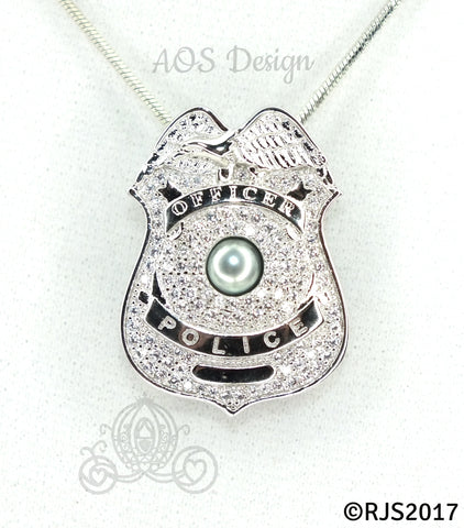 catalog products police your number philadelphia w personalized pe badge necklace