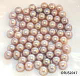 Pick A Pearl Oyster Freshwater Cultured Loose Pearl Round Purple Lavender for Pearl Cages, Charms, Necklaces