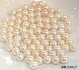 Pick A Pearl Oyster Freshwater Cultured Loose Pearl Round White for Pearl Cages, Charms, Necklaces