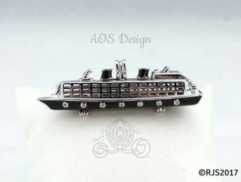 Cruise Ship Pick A Pearl Cage Necklace Silver Necklace Pendant Vacation Charm Holds 3 Pearls Transport Ocean Beach