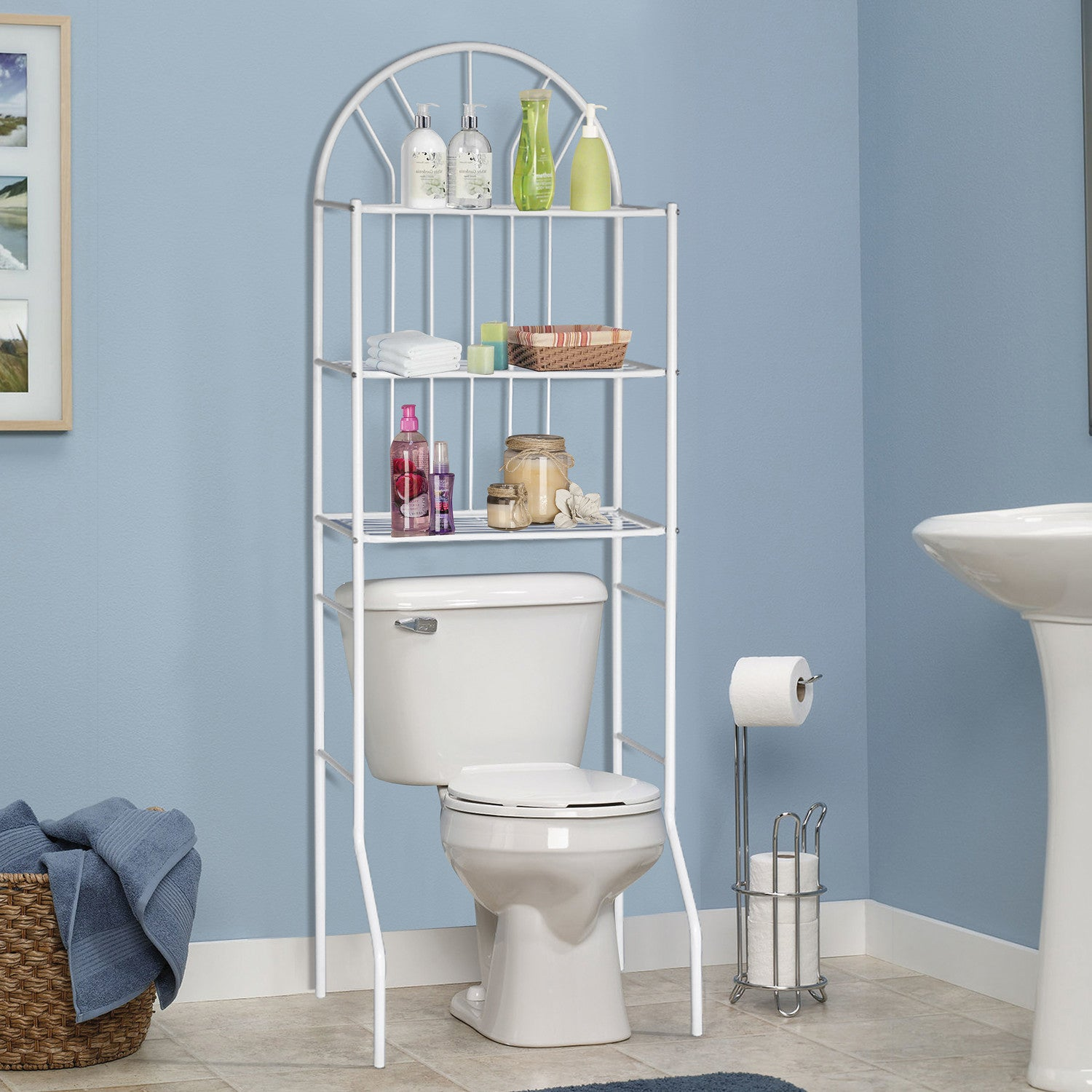 Metal Bathroom Space Saver Storage By Home Source | CassaBela