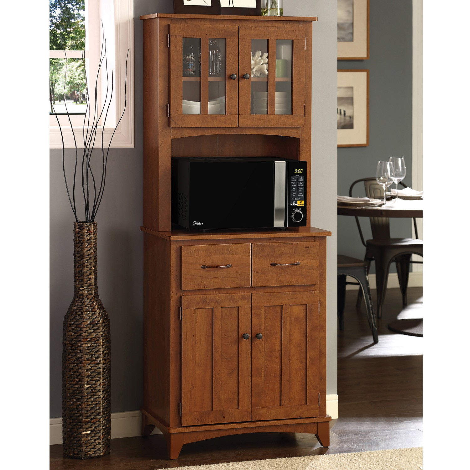 ... Oak Hills Microwave Cabinet By Home Source ...