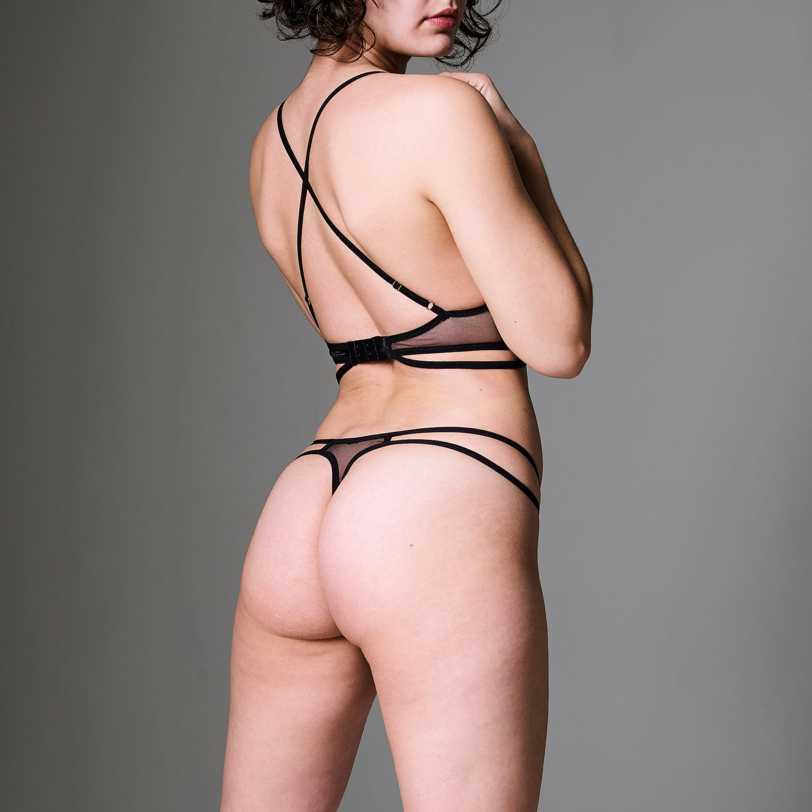 Mullberry Embroidered Thong