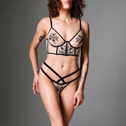 Verona Embroidered Thong