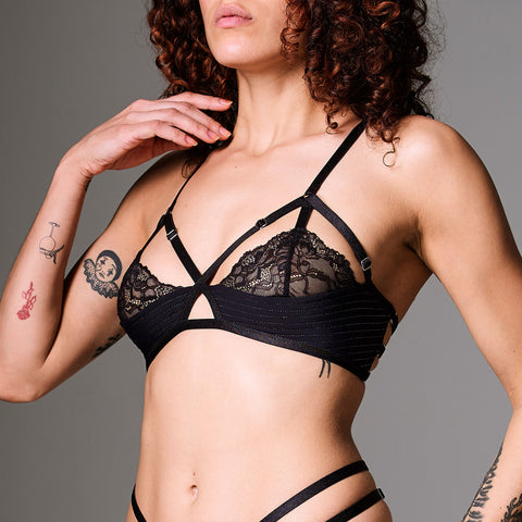 Starlight Silk Triangle Bralette - FINAL SALE