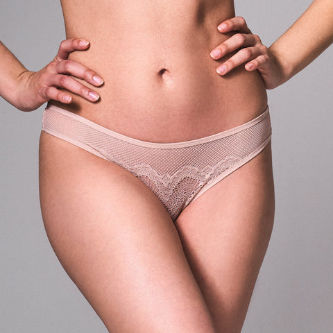 Kane Cutout Thong - Blush