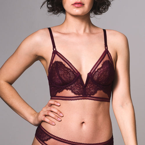 Mirage Long Line Bra - Cherry
