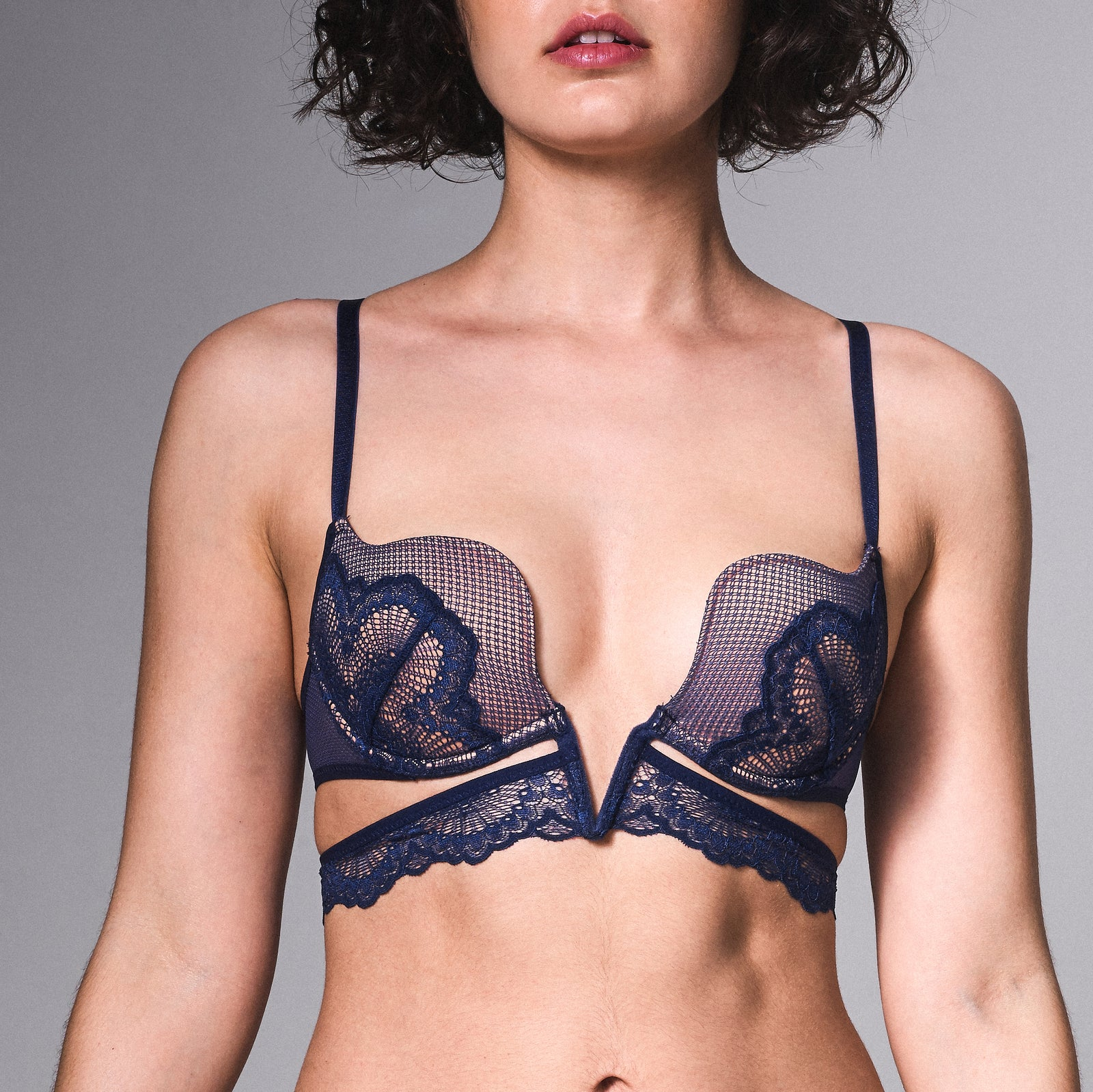 Essex Plunge V-Wire Bra - Navy