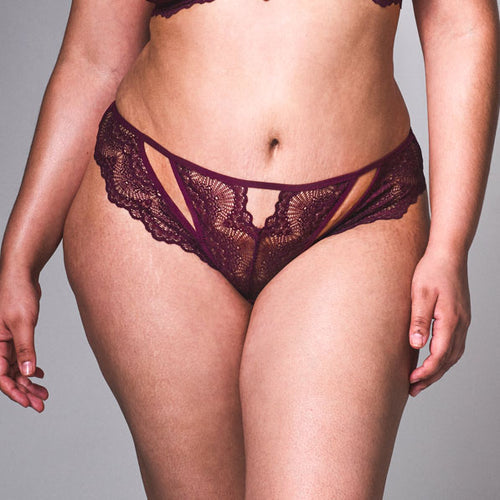 Kane Cutout Thong - Cherry