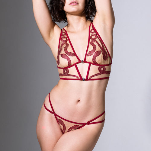 Medusa Thong - Ox Blood