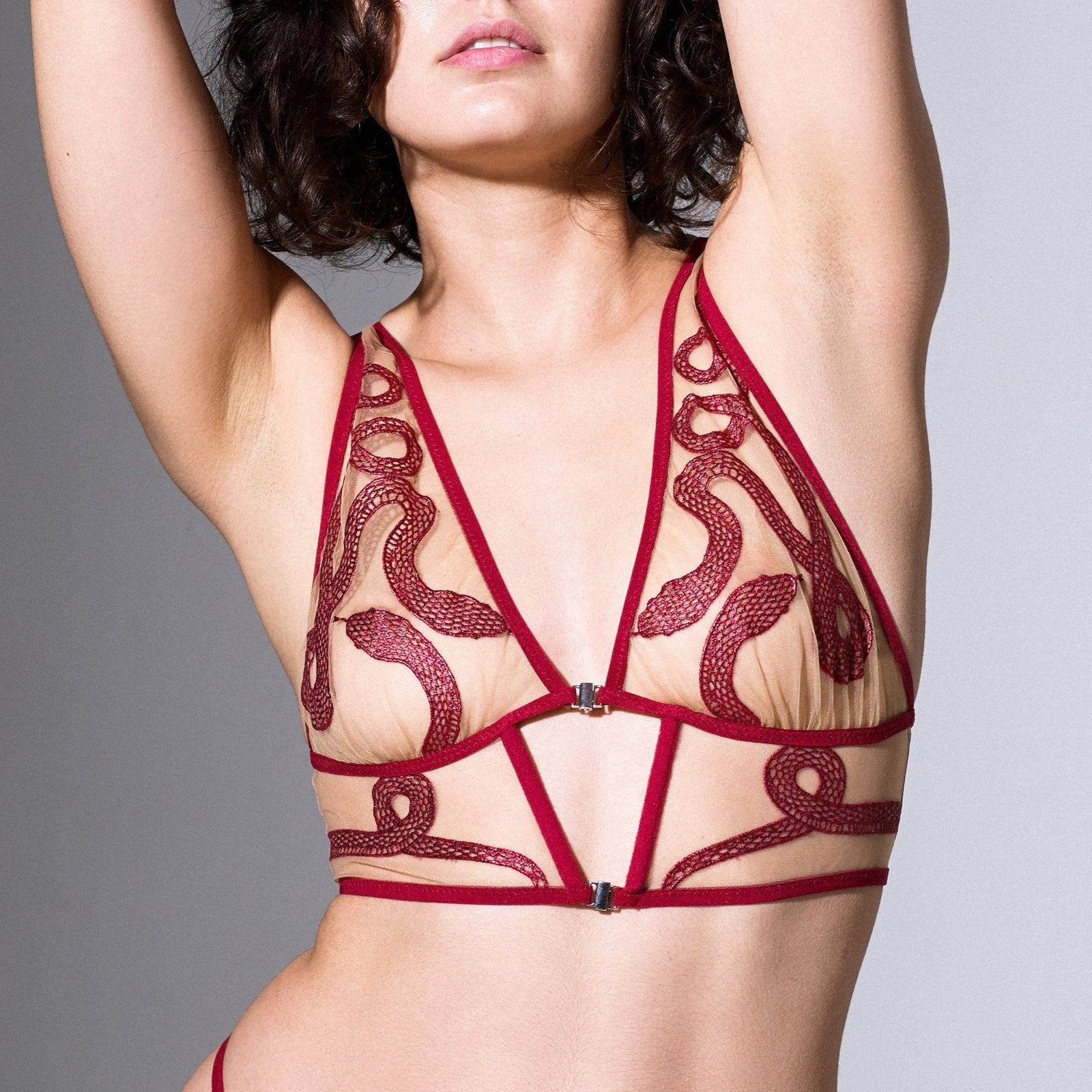 Medusa Bralette - Ox Blood