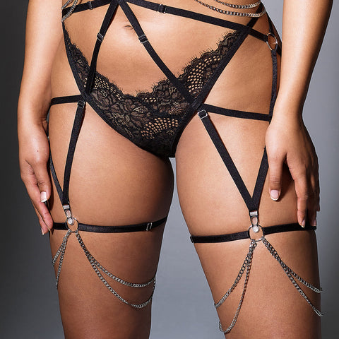 Strapped in Thigh Garters - Ruby
