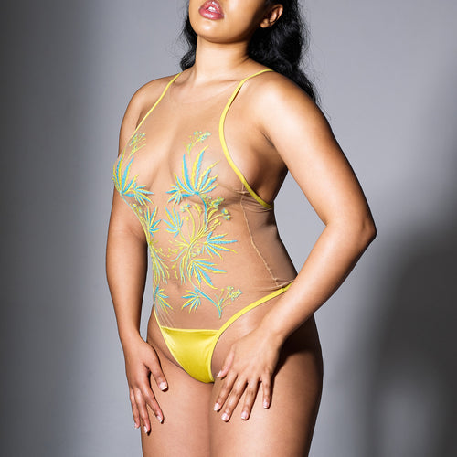 Brooklyn Haze Bodysuit - Limelight