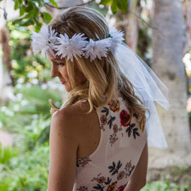 Boho Bride - Flower Crown Veil