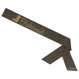 Bridesmaid Sassy Sash with Cowboy Boot