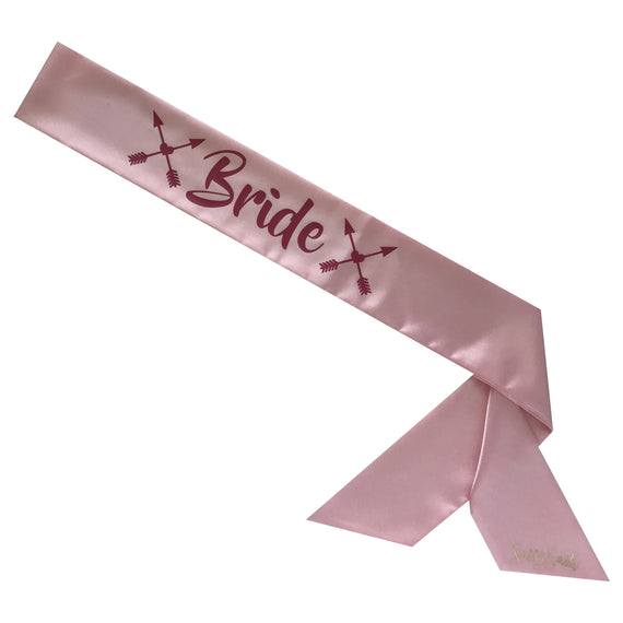 Bride Sassy Sash with Heart Arrows - Boho Bride