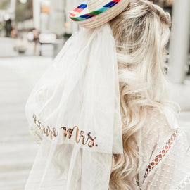 Sombrero with Detachable Future Mrs. Veil