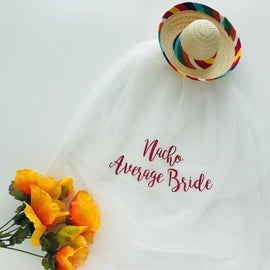 Sombrero with Detachable Nacho Average Bride Veil