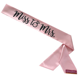 Miss to Mrs. Light Pink Sassy Sash