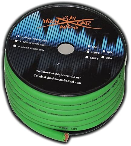SKY HIGH CAR AUDIO CCA 1/0 GAUGE - 50ft SPOOL