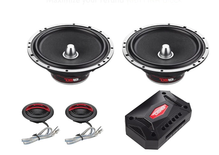 "EXL-SQ6.5C | 6.5"" 400 WATT 2-WAY COMPONENT SPEAKER SYSTEM"