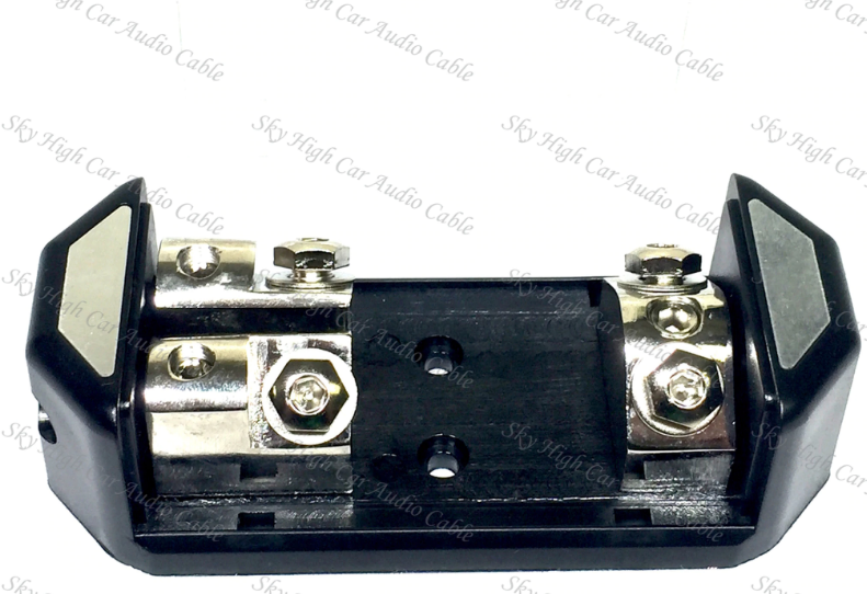 (1) 1/0 to (2) 4 ga ANL Fused Distribution Block Dual ANL Fuse Holder