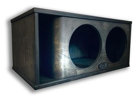 "TWO 12"" SUBWOOFER ENCLOSURE 3.5 CF SUB BACK / PORT BACK"