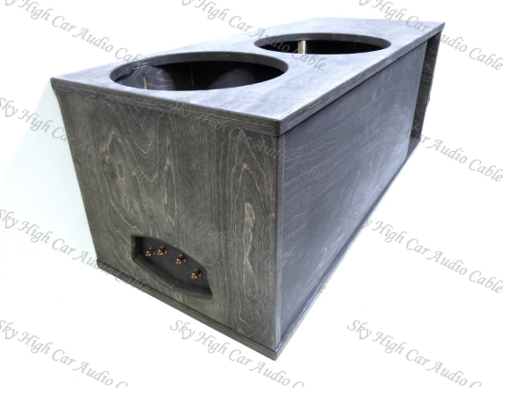"TWO 15"" SUBWOOFER ENCLOSURE 6.25 CF SUB UP/PORT BACK"