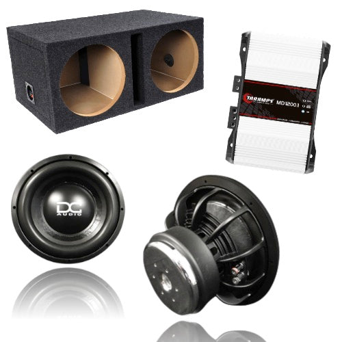 "DC Audio Level Two Dual 10"" Ported Box Package"