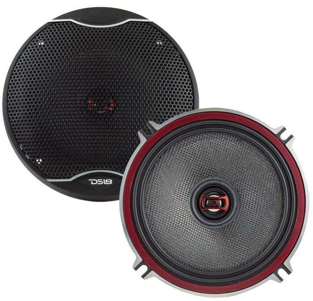 "EXL-SQ5.25 | 5.25"" 80 WATT SQ COAXIAL CAR SPEAKERS - PAIR"