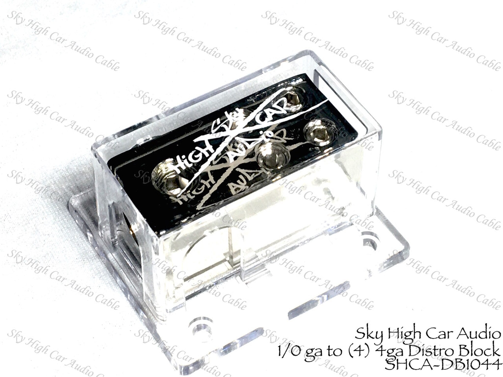 2 1//0 to Sky High Car Audio 8 Gauge Distribution Block 8