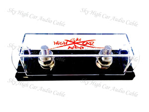 SKY HIGH CAR AUDIO 1/0 GAUGE ANL FUSE HOLDER (RING TERMINALS)