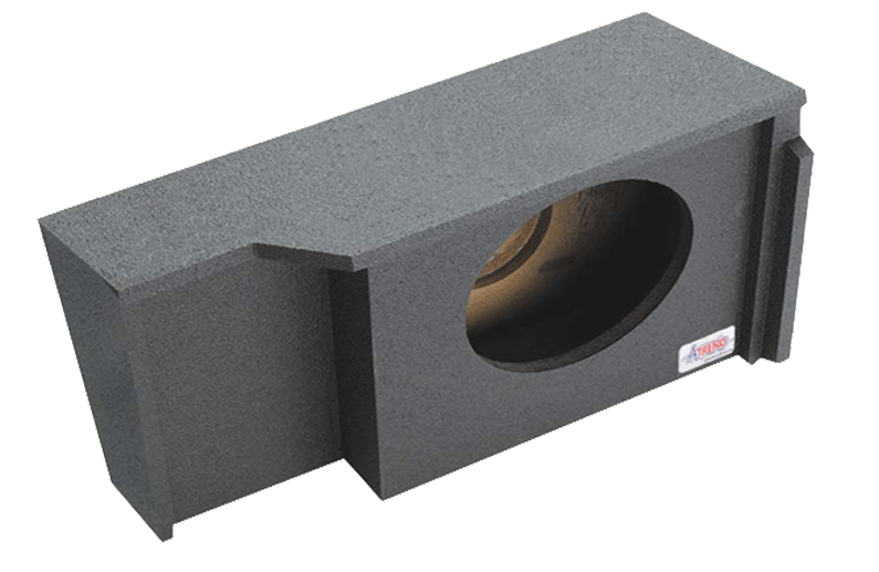 "Atrend A151 Single 12"" Sealed Subwoofer Enclosure - Fits 1999 - 2007 Chevrolet / GMC Silverado / Sierra Extended Cab"