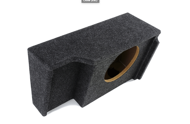 "Atrend A151-10 Single 10"" Sealed Subwoofer Enclosure - Fits 1999 - 2007 Chevrolet / GMC Silverado / Sierra Extended Cab"