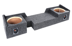 "Atrend A372-10CP Dual 10"" Sealed Carpeted Subwoofer Enclosure - Fits 2004 - 2008 Ford F150 Super Crew / Super Cab"