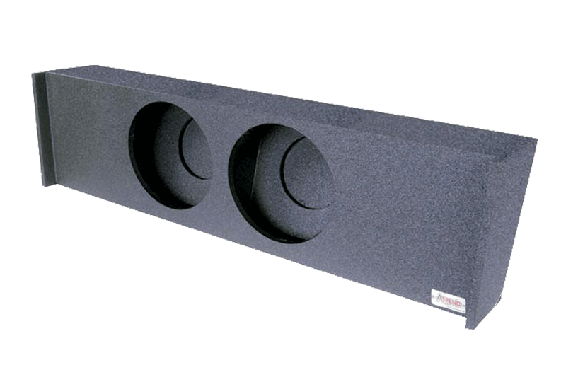 "Atrend A362-10 Dual 10"" Sealed Spray Lined Subwoofer Enclosure - Fits 2009 - up Ford F150 Super Crew"