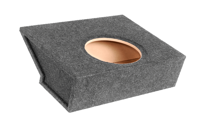 "Atrend C5-10S Single 10"" Sealed Carpeted Subwoofer Enclosure - Fits 1997 - 2004 Chevrolet Corvette"