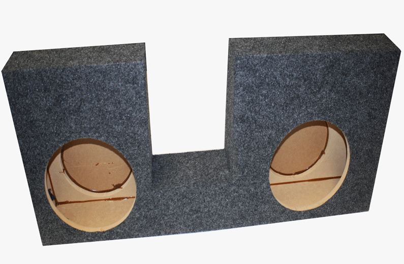 "Atrend A394-10CP Dual 10"" Sealed Carpeted Subwoofer Enclosure - Fits 2008 - 2016 Ford F250/350/450 Crew Cab"