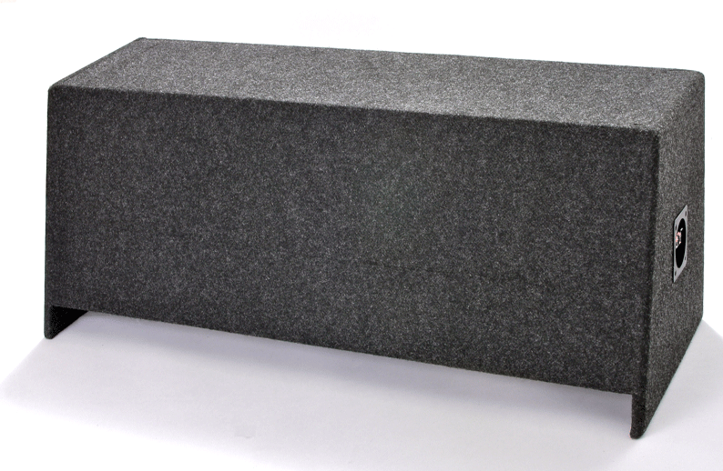 "Atrend A122-12CP Dual 12"" Sealed Carpeted Subwoofer Enclosure - Fits - Universal"