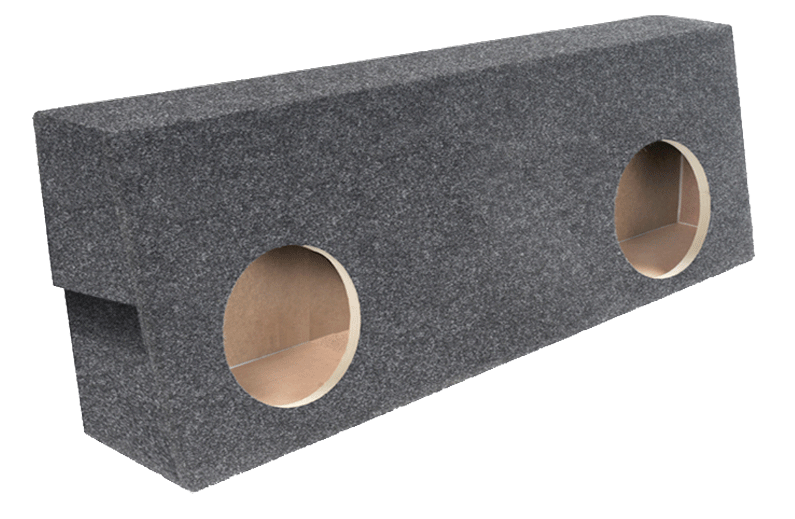 "Atrend A604-12CP Dual 12"" Sealed Carpeted Subwoofer Enclosure - Fits 2007 - 2013 Toyota Tundra Crew Max"